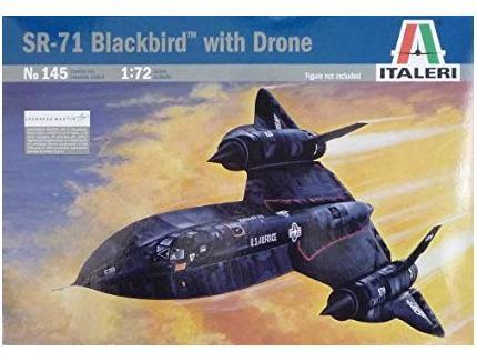 SR-71 BLACKBIRD WITH DRONE ITALERI 1/72°