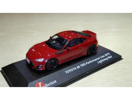 TOYOTA 86 TRD 2013 ROUGE J-COLLECTION 1/43°