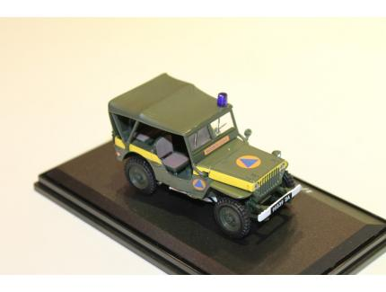 """JEEP WILLY'S  SECURITE CIVILE"""" 1/43° OLIEX"""