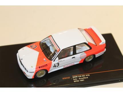 BMW E30 M3 N°43 WTCC 1987 IXO 1/43°