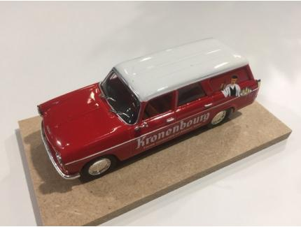 "PEUGEOT 404 BREAK ""KRONENBOURG"" ROUGE 1967 AUTORECLAME 1/43°"