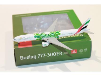 """BOEING 777-300ER """"EXPO DUBAI 2020"""" HERPA 1/500°"""