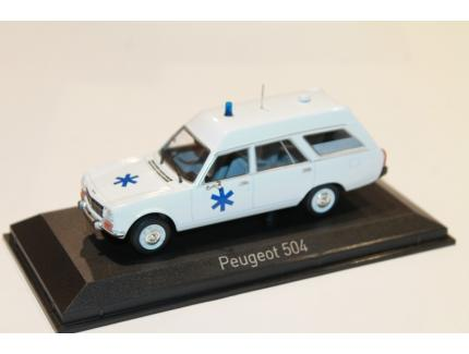 PEUGEOT 504 BREAK AMBULANCE 1979 NOREV 1/43°
