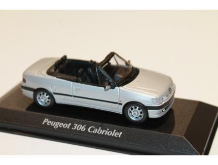 PEUGEOT 306 CAB ARGENT 1998 MAXICHAMPS 1/43°