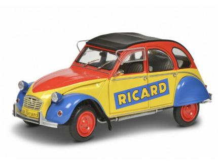 """CITROEN 2CV6 """"RICARD"""" 1985 SOLIDO 1/18°"""