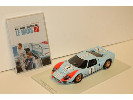 DVD + FORD GT 40 MKII LE MANS 66 1/18°
