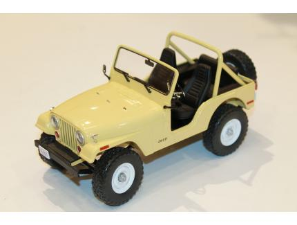 "JEEP CJ-5 JAUNE ""CHARLIE'S ANGEL"" 1980 GREENLIGHT 1/18°"