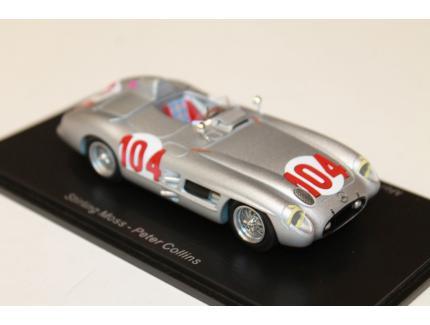 MERCEDES BENZ 300 SLR N°104 WINNER TARGA FLORIO SPARK 1/43°