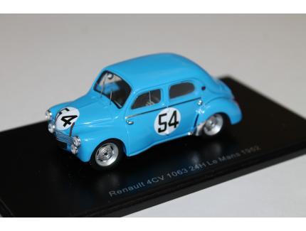 RENAULT 4CV N°54 LE MANS 1952 SPARK 1/43°