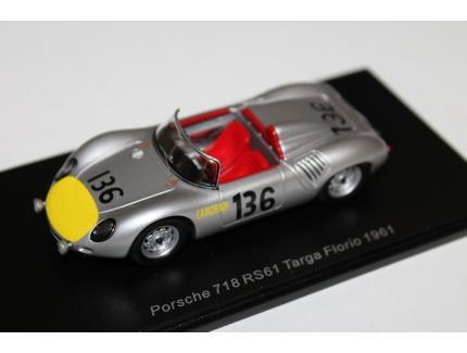 PORSCHE 718 RS61 N°136 TARGA FLORIO 1961 SPARK 1/43°