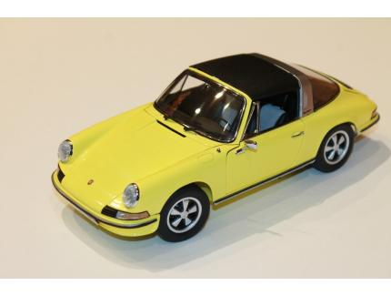 PORSCHE 911 S TARGA JAUNE 1973 SCHUCO 1/18°