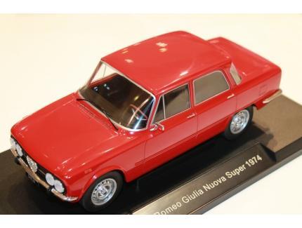 ALFA ROMEO GIULIA NUOVA SUPER ROUGE 1974 MODEL CAR 1/18°
