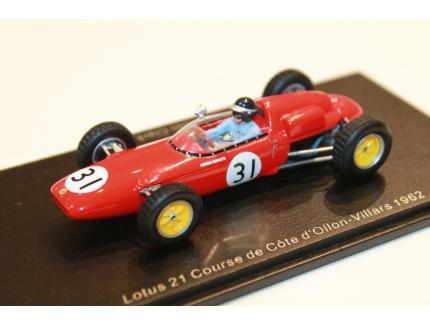 LOTUS 21 N°31 COURSE DE COTE D'OLLON-VILLARS 1962 SPARK 1/43°