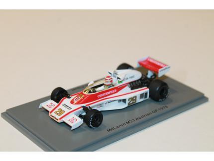MCLAREN M23 N°29 AUSTRIAN GP 1978 SPARK 1/43°