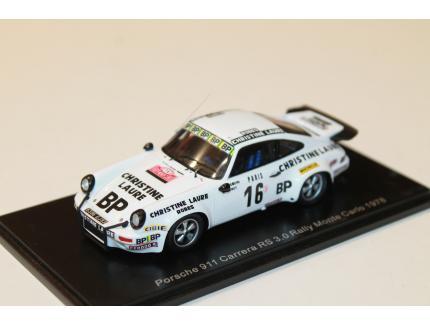 PORSCHE 911 CARRERA RS 3.0 N°16 RALLY MONTE CARLO 1978 SPARK 1/43°