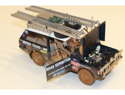 """LAND ROVER RANGE ROVER """"THE BRITISH TRANS-AMERICAS EXPEDITION"""" EDITION 1971-1972 DIRTY VERSION ALMOST REAL 1/18°"""