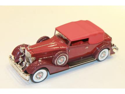 PACKARD V12 VICTORIA ROUGE 1934 AUTO WORLD 1/18°