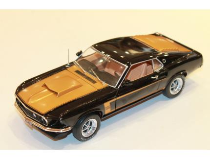 FORD MUSTANG BOSS 429 NOIR/OR 1969 AUTOWORLD 1/18°
