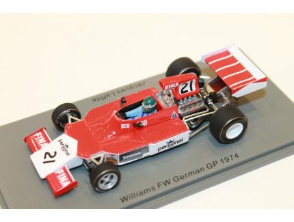 WILLIAMS FW GERMAN GP 1974 SPARK 1/43°