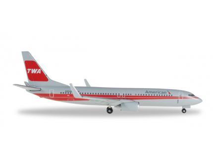 "BOEING 737-800 ""TWA HERITAGE LIVERY"" HERPA 1/500°"