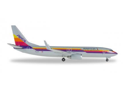 "BOEING 737-800 ""AIR CAL HERITAGE LIVERY"" HERPA 1/500°"