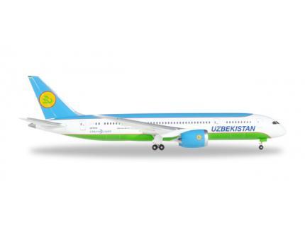 BOEING 787-8 DREAMLINER UZBEKISTAN HERPA 1/500°