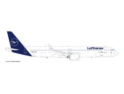 AIRBUS A321 NEO LUFTHANSA HERPA 1/500°