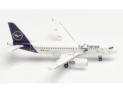 """AIRBUS A319 """"LU & COSMO"""" D-AILU """"VERDEN"""" HERPA 1/500°"""