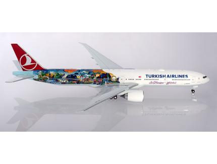"BOEING 777-300ER TURKISH AIRLINES ""ISTANBUL-SAN FRANCISCO"" HERPA 1/200°"