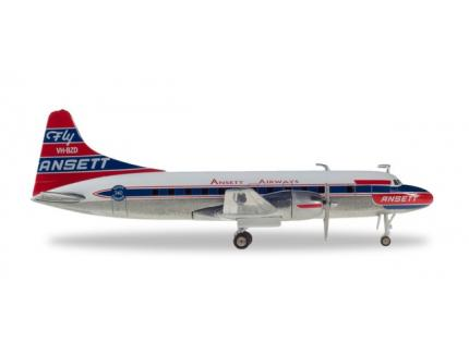 CONVAIR CV-340 ANSETT AIRWAYS HERPA 1/500°