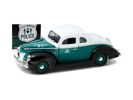 FORD DELUXE COUPE 1940 NYPD GREENLIGHT 1/18°