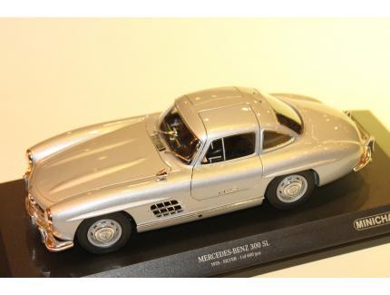 MERCEDES 300 SL 1955 SILVER MINICHAMPS 1/18°