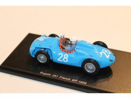 BUGATTI 251 N°28 FRENCH GP 1956 SPARK 1/43°