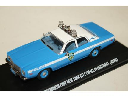 PLYMOUTH FURY NEW YORK POLICE DEPARTMENT 1975 GREENLIGHT 1/43°