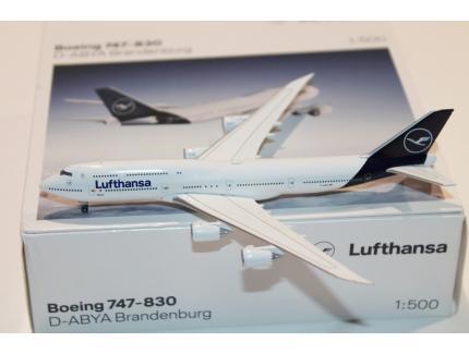 BOEING 747-830 LUFTHANSA 2020 HERPA 1/500°