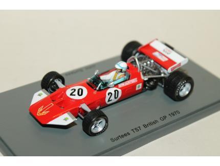SURTEES TS7 N°20 BRITISH GP 1970 SPARK 1/43°