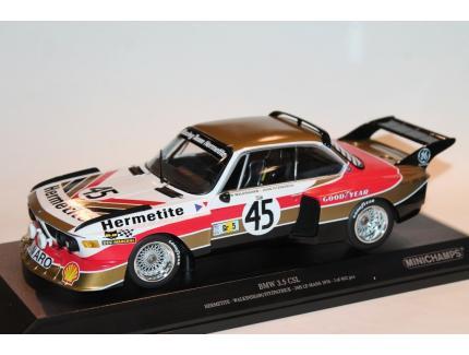 BMW 3.5 CSL N°45 HERMETITE 24 LM 1976 MINICHAMPS 1/18°