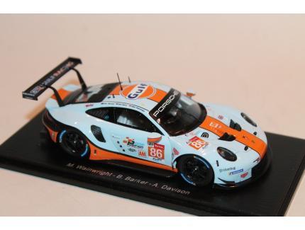 PORSCHE 911 RSR GULF N°86 LM2018 SPARK 1/43°