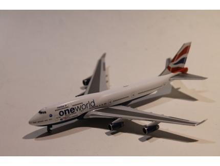 """BOEING 747-400 BRISTISH AIRWAYS """"ONEWORLD"""" HERPA 1/200°"""