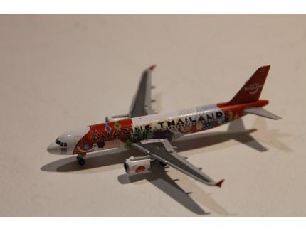 """AIRBUS A320 THAI AIR ASIA """"AMAZING THAILAND"""" HERPA 1/500°"""