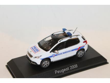 "PEUGEOT 2008 ""POLICE MUNICIPALE"" BLANCHE 2013 NOREV 1/43°"