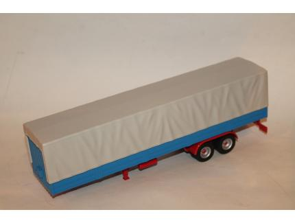 TRUCK TRAILER WITH CANVAS COVER GRIS IXO 1/43°