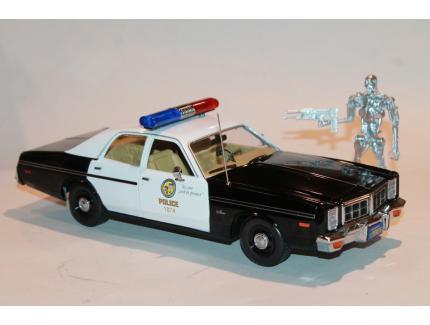 DODGE MONACO 1977 POLICE TERMINATOR  GREENLIGHT 1/18°