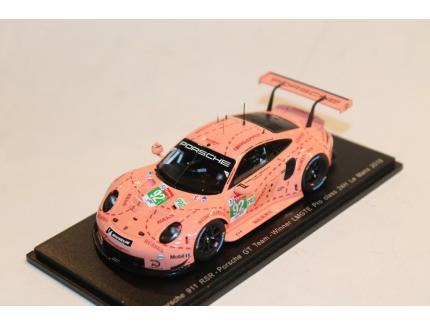 PORSCHE 911 RSR COCHON ROSE N°92 LM2018 SPARK 1/43°