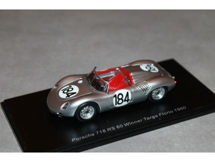PORSCHE 718 RS 60 VQ TARGA FLORIO 1960 SPARK 1/43°