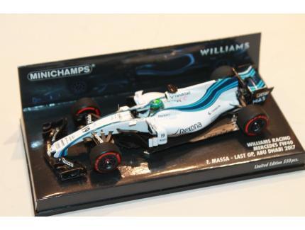 WILLIAMS RACING FW40 MASSA F1 2017 MINICHAMPS 1/43