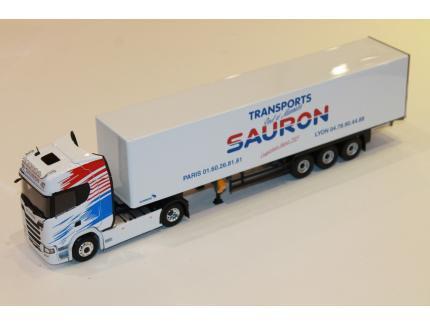 SCANIA S500 FOURGON TRANSPORTS SAURON ELIGOR 1/43