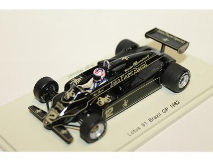 LOTUS 91 BRESIL GP 1982 N°12 SPARK 1/43°