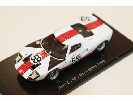 FORD GT 40 LE MANS 1966 N°59 SPARK 1/43°