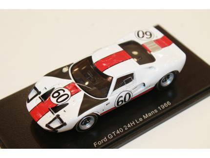 FORD GT 40 LE MANS 1966 N°60 SPARK 1/43°